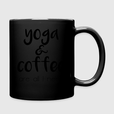 Yoga & coffee - Tasse einfarbig