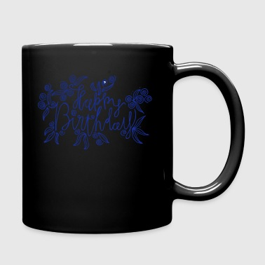 Happy Birthday - lettrage artistique - Mug uni