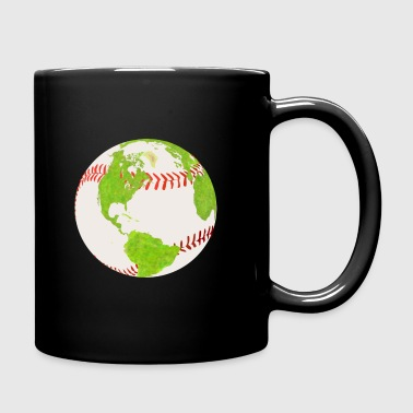 baseball globe earth planet earth globe - Full Colour Mug