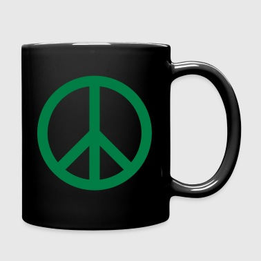 Peace Sign Filled Green - Full Colour Mug