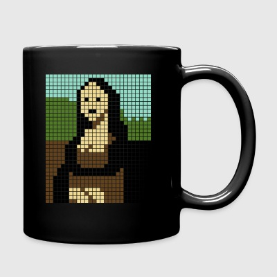 Monalisa pixel art - Full Colour Mug