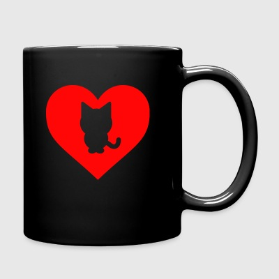 Heart Cat - Taza de un color