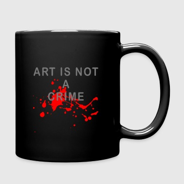 Art is not a crime (blood) - Full Colour Mug