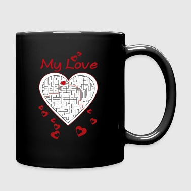 maze heart - Full Colour Mug