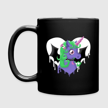 creepy cute unicorn - Full Colour Mug