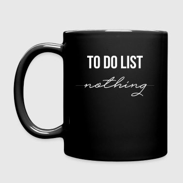 To Do List Nothing Nothing gift lijst - Mok uni