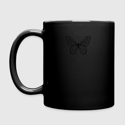 Butterfly in black hand drawn, - Full Colour Mug