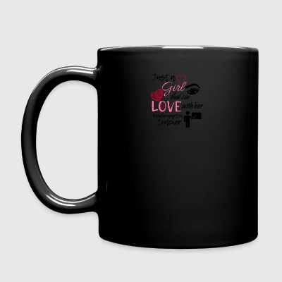 This girl is in love with her kindergarten teacher - Full Colour Mug
