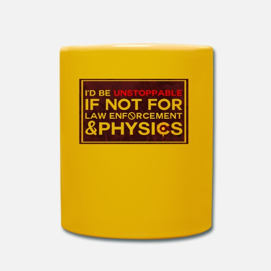 Quote Mugs & Drinkware - physicist - Mug sun yellow
