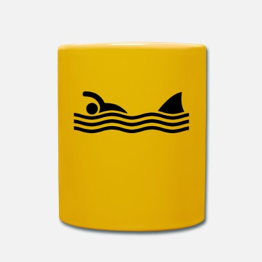 Divertidas swimmer with shark - Taza