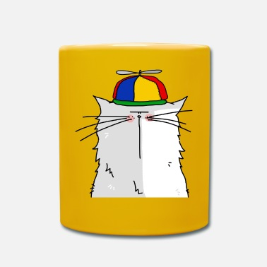 First Portrait of a cat with cap propeller - Mug