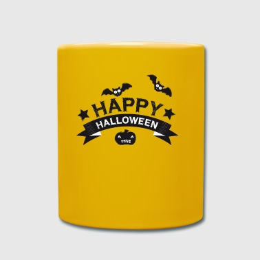 Happy Halloween | Kürbis | Fledermaus | Horror - Full Colour Mug