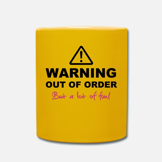 Club Mugs & Drinkware - WARNING Out of Order - Mug sun yellow