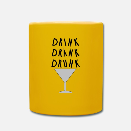 Drinking Mugs & Drinkware - drink drink drunk - Mug sun yellow