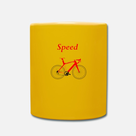Speed Metal Mugs & Drinkware - Speed racing bike - Mug sun yellow
