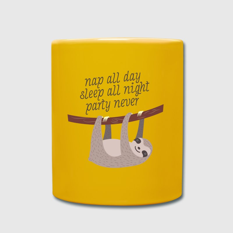 Nap All Day, Sleep All Night, Party Never - Full Colour Mug
