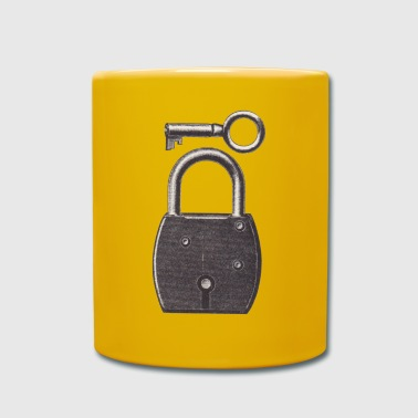 lock with key - Full Colour Mug