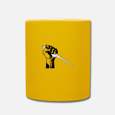 Worker fist with pipette - nerd science - Mug