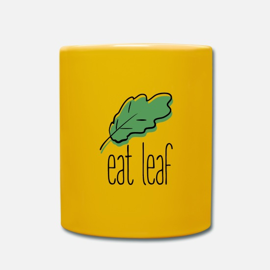 Dish Mugs & Drinkware - Blatt essen - Mug sun yellow