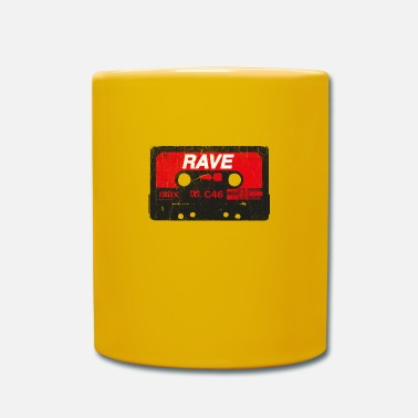 Dj Cassette Rave Vintage - Techno Acid Synth Nerd 80s - Taza de un color