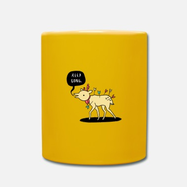 Kep Going Deer - Keep going - motivation - Mug