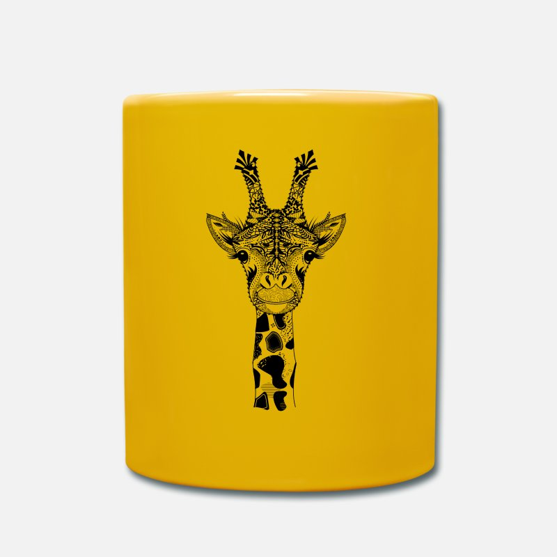 Bestsellers Q4 2018 Mugs & Drinkware - A head of a giraffe - Mug sun yellow