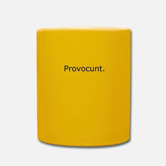 Mode Mugs & Drinkware - Provocative sarcasm - Mug sun yellow