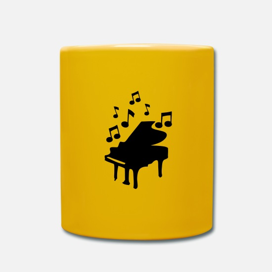 Barman Mugs et récipients - piano bar - Mug jaune soleil