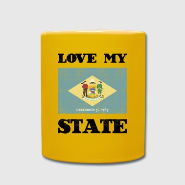 Love my state Delaware State Flag T Shirt - Tasse einfarbig