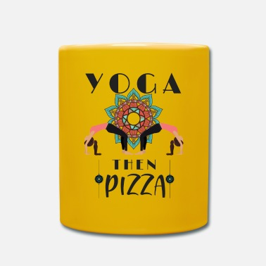 Jogin Joga Lover Pizza Lover First Yoga Then Pizza - Kubek jednokolorowy