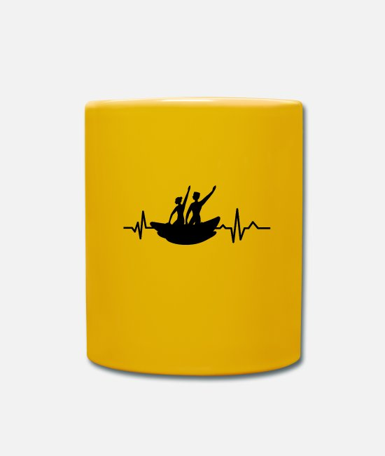 Kayak Mugs & Drinkware - Heartbeat - Heartbeat / Kayak - Holiday - Mug sun yellow