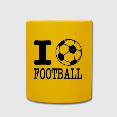 Rugby i love football with ball - Mug uni