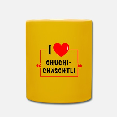 German I love Chuchichäschtli - cult term for the Swiss - Mug