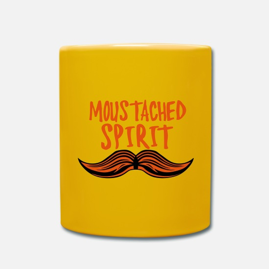 Expression Mugs et récipients - citation moustache moustached spirit hum - Mug jaune soleil
