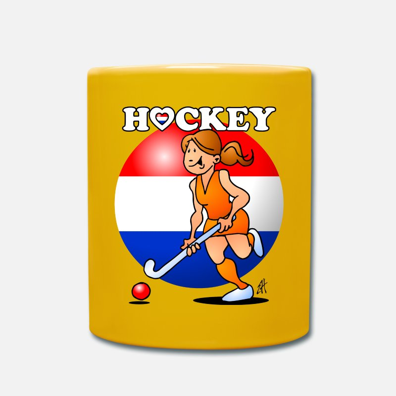 Hockey Mugs & Drinkware - Dutch women's hockey team - Mug sun yellow