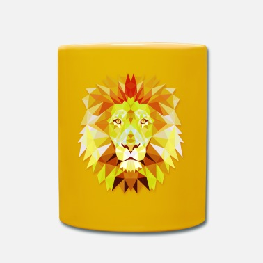 Spruzzi Lion Head Polygonal Abstract Colors Leo King Gift - Tazza