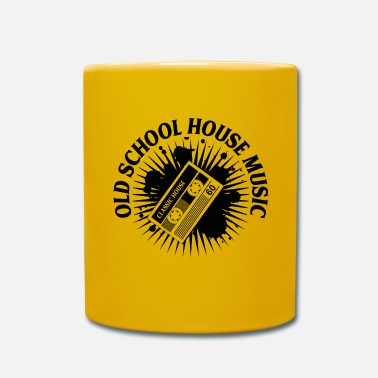 Old School T-Shirt HOUSE MUSIC OLD SCHOOL ✫ - Tazza monocolore