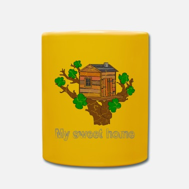 Tree Tree house with saying. - Mug
