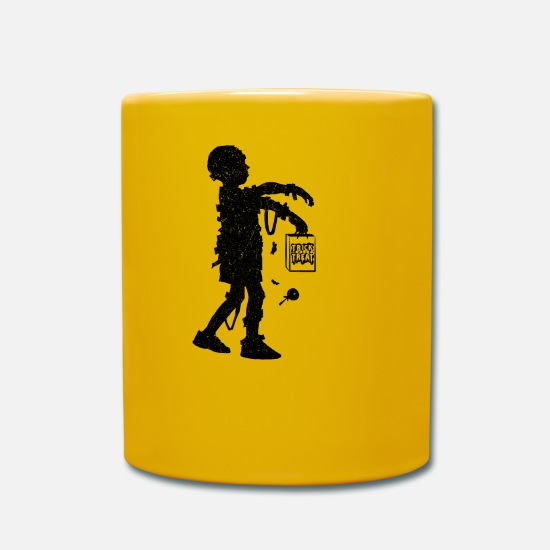 Monstre Mugs et récipients - Halloween Zombie Trick or Treat - Mug jaune soleil