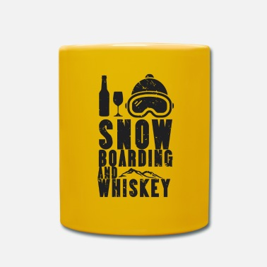 Winter Snowboard Winter Sport Boarding Snow Whiskey - Mug