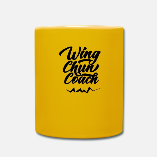 Martial Arts Mugs & Drinkware - WingTsun Wing Chun Trainer - Mug sun yellow