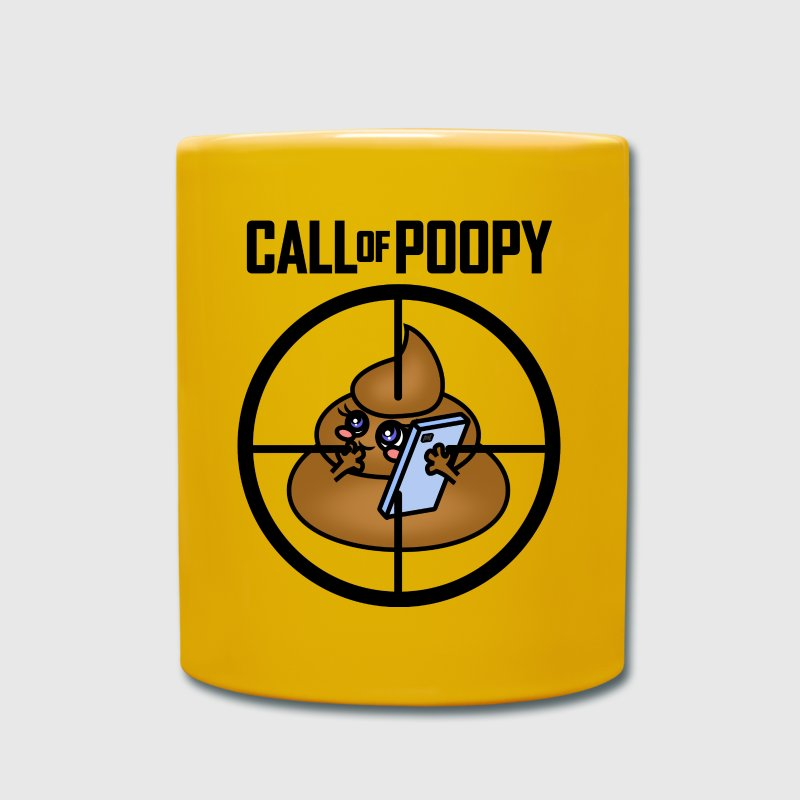Call Of Poopy - Tasse einfarbig