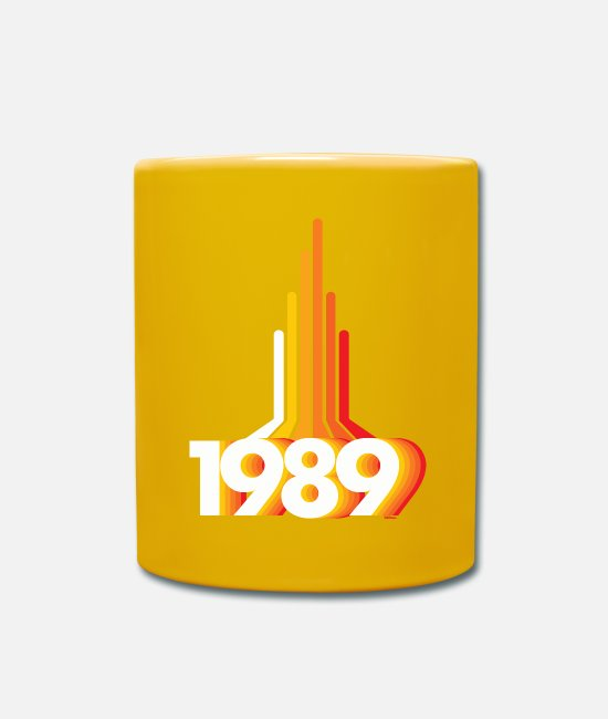 1985 Mugs & Drinkware - 1989 missiles 80ths - Mug sun yellow