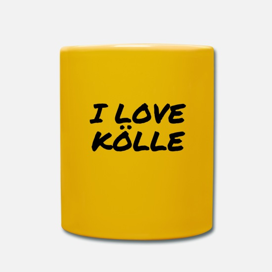 Gift Idea Mugs & Drinkware - I LOVE KÖLLE for visitors and residents of Cologne - Mug sun yellow