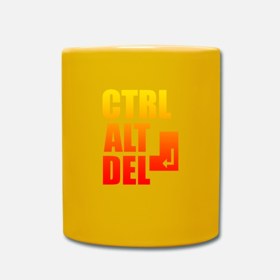 Computer Art Mugs & Drinkware - computer - Mug sun yellow