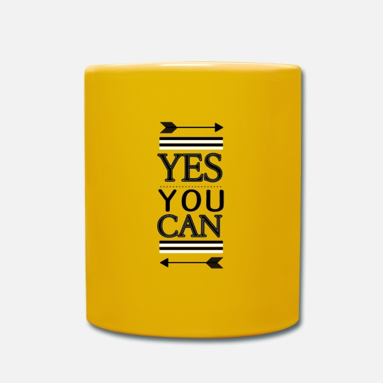 Ease Mugs & Drinkware - yes you can - Mug sun yellow