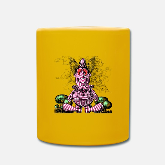 Awesome Mugs & Drinkware - Pycho clown - Mug sun yellow