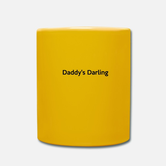 Baby Sayings Mugs & Drinkware - Daddy s darling daddy's darling - Mug sun yellow