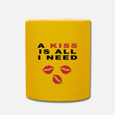 Kiss kiss - Taza de un color