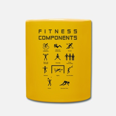 Physical Education Fitness Components - Mug